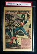 Captain America Comics 54 Cpa 7.5 Single Page 1 Murder Mountain Timely