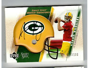 2005 Ud Sweet Spot Aaron Rodgers Gold Rookie Signatures Rc Auto 017/100 Packers