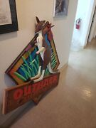 Outback Steakhouse Advertisement Rare Wood Store Front Sign Vintage Collectable