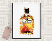 Whisky Art Print 2 Alcohol Wall Art Kitchen Print Fathers Day Gift