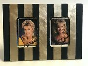 Country Gold Cards Lynn Anderson And Janie Fricke Autographed In Frame