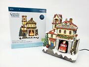 Lemax Carole Towne - Fire Station No. 24 2016 Animated Musical And Lighted Euc