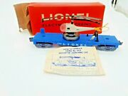 1960-lionel Original Dual Bladed Helicopter W/ Light Blue Flat Car-3419 Read On