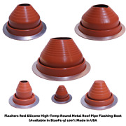Flashers Silicone Round Metal Roof Pipe Flashing Boot Size1-9 Made In Usa