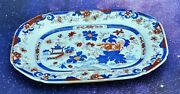 Antique Early 1800andrsquos English Staffordshire Tonquin China Platter Tra Bi210205