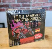 1993 ☆impel☆marvel Masterpieces Cards Sealed Wax Box 36 Packs Spider-man Psa