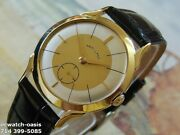 Vintage 1955 Hamilton Manual Wind Stunning Silver And Champagne Dial Serviced