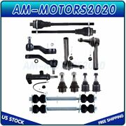 Fits Chevy Gmc Sierra 1500 4x4 13pcs New Front Ball Joints Tie Rods Idler Arm