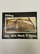 Vintage 1960-1970 Mini Mark Ii Facia Dashboard Dash Kit Nib Never Used Complete