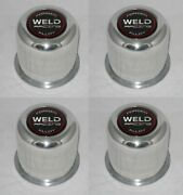 4 - Forged Weld Racing Alloy 605-5083 Wheel Rim Center Caps Fits 3.175 Dia Bore