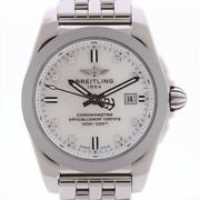 Breitling Galactic W72348 Stainless Steel Qz Shell Dial Too Much