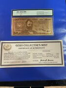 2009 50.00 Gold Bullion Bank Note 24 Kt Gold With Coa