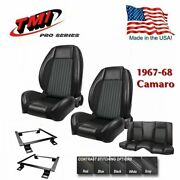 Tmi Pro-series Sport R F/r Seat Kit - With Brackets For 1967-1968 Camaro Coupe