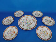 Herend Shanghai 7 Plate Set With Big Serving Plate Porcelain With Antique Sign