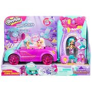 Shopkins Happy Places Mermaid Tails Coral Cruiser Convertible Car Playset New