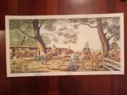 Ernie Barnes Numbered Title Signed Limited Edition Lithograph Print Backstretch