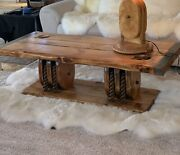 Wwii Liberty Ship Hatch Cover Coffe Table Excellent Condition