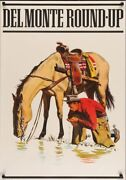 Del Monte Roundup Style A 1975 Vintage Advertising Poster 25x35 Near Mint