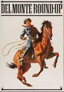 Del Monte Roundup Style B 1975 Vintage Advertising Poster 25x35 Near Mint
