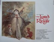 Lord Of The Rings Half Sheet Movie Poster 22x28 Ralph Bakshi Jrr Tolkien 1978 Nm
