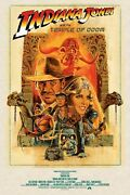 Indiana Jones And The Temple Of Doom Limited Edition Signed Print Paul Mann R21
