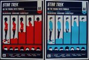 Star Trek Trouble With Tribbles Limited Edition Print X2 Olly Moss Mondo R2010