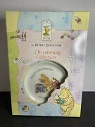 Royal Doulton China Classic Winnie The Pooh Child Christening Set Cup Plate Bowl