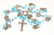 Stations Of The Cross Catholic Rosary Aqua Crystal Beads Lent Passion Of Christ