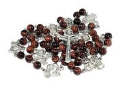 Stations Of The Cross Catholic Rosary Lent Passion Of Christ Natural Stones Bead