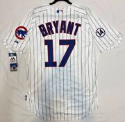 Majestic Authentic 56 3xl Chicago Cubs Pinstripe Kris Bryant Cool Base Jersey