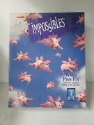 Bepuzzled Impossibles When Pigs Fly 750 Piece Jigsaw Puzzle Animals 24x24