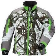 Arctic Cat Womenand039s Team Arctic Camo Snowmobile Jacket - Green-m 5270-872