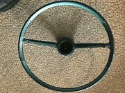 Vintage Chevy Steering Wheel Early 60and039s Impala Green