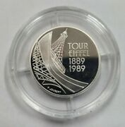 Republic Of France 1989 Silver Proof 5 Francs Effiel Tower Commemorative Coin