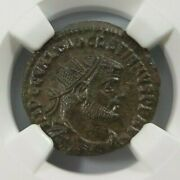 Diocletian Roman Empire Ad 284-305 Ngc Au Ancient Ae Post Ref Radiate Soldiers