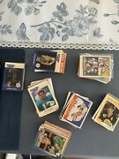 Sports Cards Lot Cards From 70s To 2010s. Good Condition Foot Base And Basket