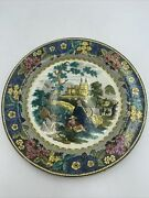 Staffordshire Polychrome Pearlware Salopian Plate Early 19th C Rare