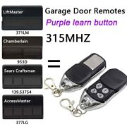 2 For For Chamberlain 315mhz Garage Door Opener Remote Electric Gate Key Fob