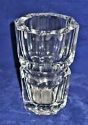 Baccarat French Crystal Edith Multi Sided Heavy Vase 7
