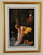 Bruno Di Maio 1944 Large Lithograph Hand Signed Numbered Titled Pumpkins
