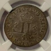 French Colonies Louis Xiiii 30 Deniers 1710 D - Ngc Au 50