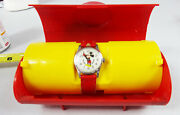Vintage Bradley Time Mickey Mouse Watch 1970s With Case Elgin Non Working Repair