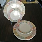 Corelle Mirage Plate Set Of 11 6 10 1/4 Dinner And 5 7 1/4 Bread Beige