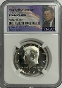 1964 Ngc Pf65 Star Cameo Proof Silver Kennedy Accent Hair Half Jfk Coin 50c Sign