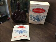Wheaton Gerald R. Ford Red Glass Bottle W/ Box Presidential Series Decanter
