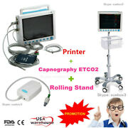 Co2 Portable Vital Signs Patient Monitor 7 Parameter+capnograph+stand+printer
