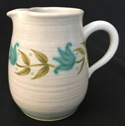 Franciscan Earthenware Tulip Time Creamer Jug 4 1/4 Made In Usa Mid Century