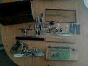 Stanley Plane No. 45 Combination Plow And Beading Plane With 20 Cutters
