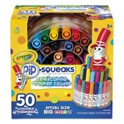 Crayola Pip-squeaks Assorted Colors Telescoping Marker Tower 50/set Cyo588750