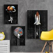 Canvas Painting Posters And Prints Space Plant Graffiti Modern Street Wall Art